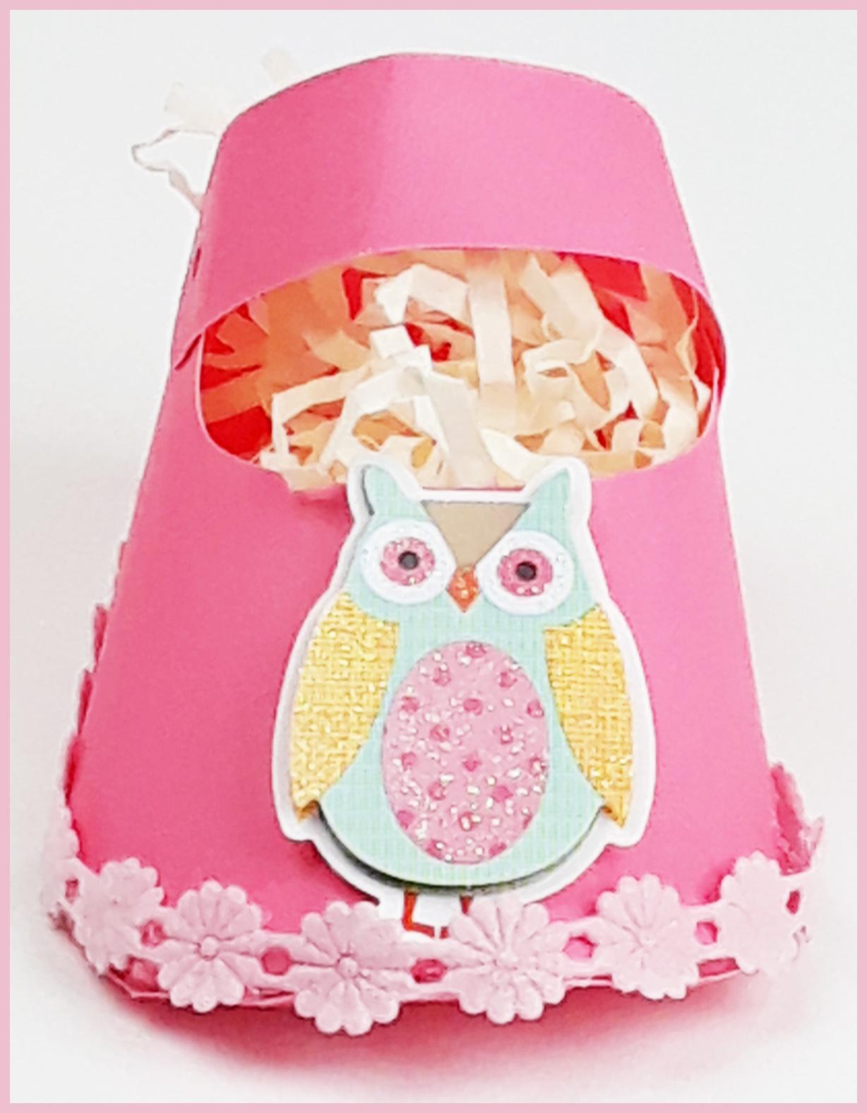 Owl girl baby shower favors