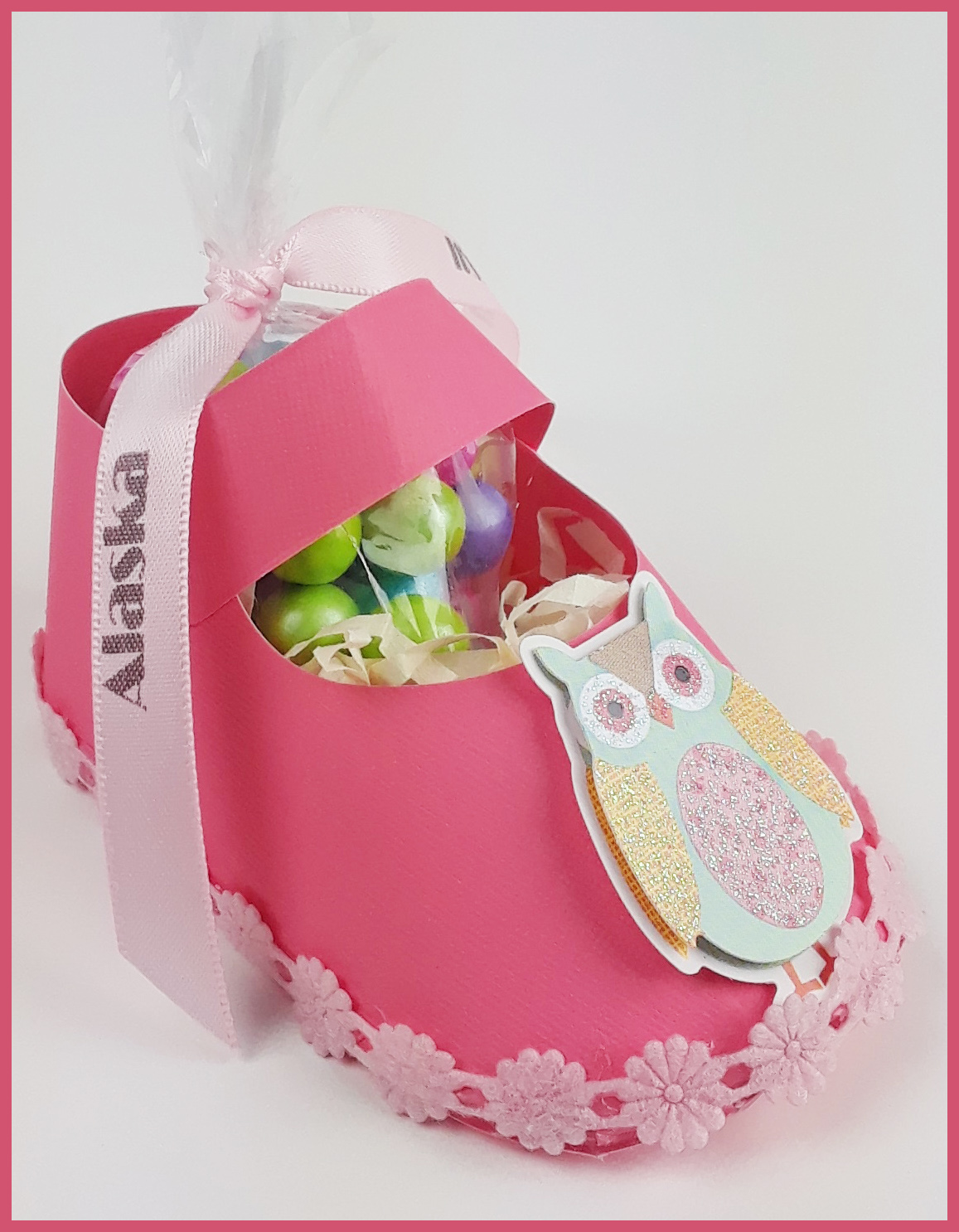 Assembled girl baby shower favors - Au Bouquet